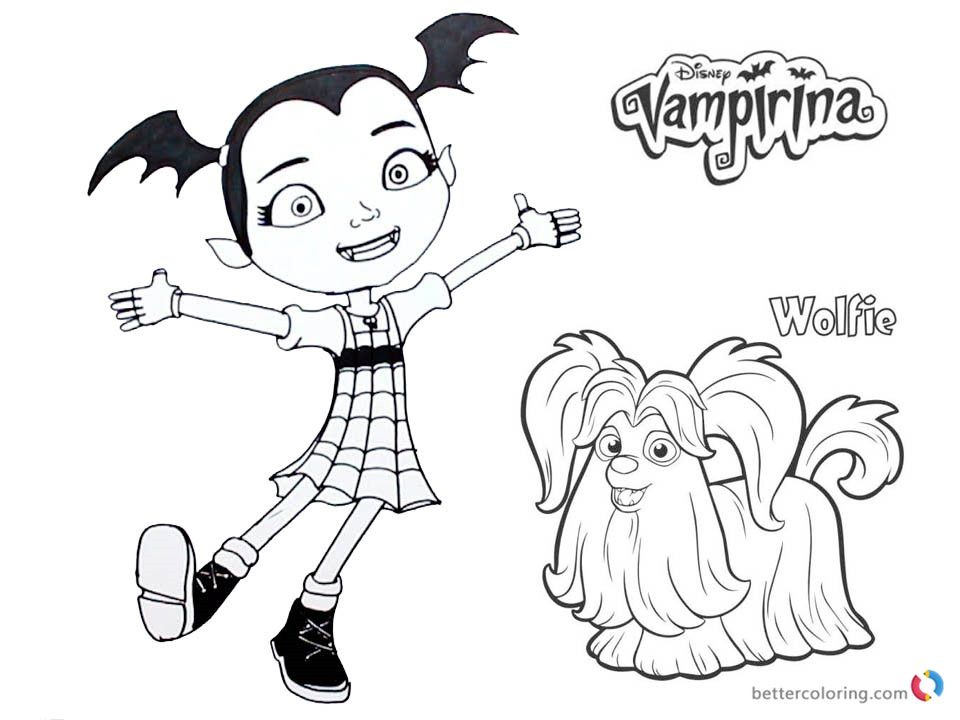 Vampirina Coloring Pages Vampirina And Wolfie Free Printable
