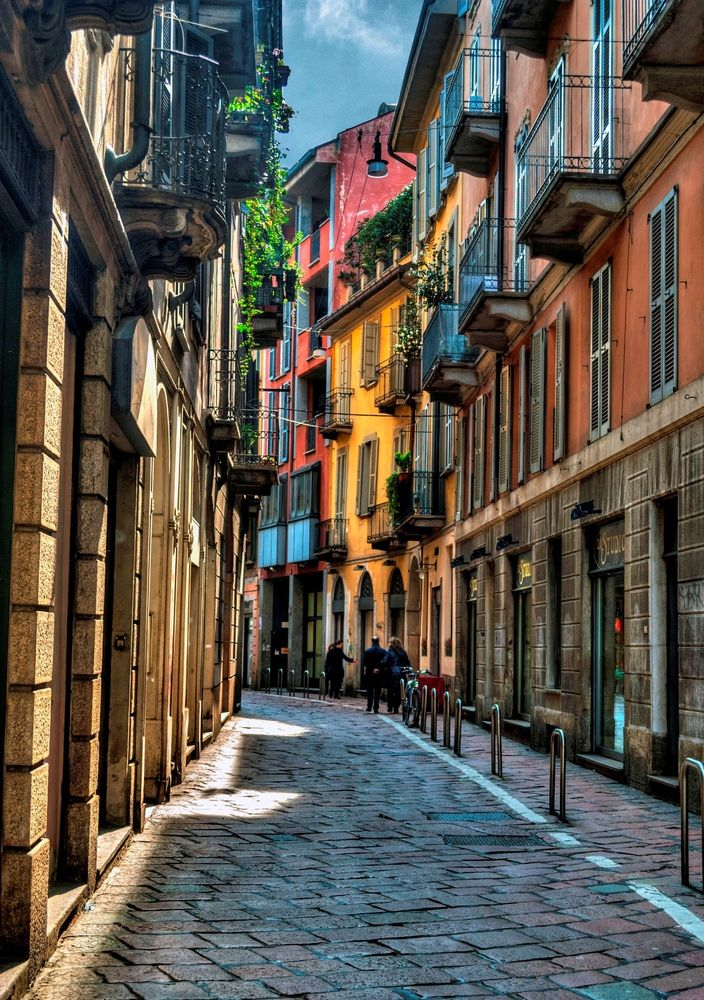 Take a stroll through the colorful streets of Milan, Italy ...