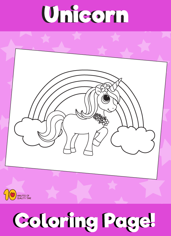 Unicorn And Rainbow Coloring Page Giraffe Coloring Pages