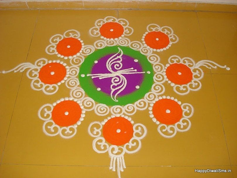 latest freehand rangoli patterns homemade rangoli pictures On home made rangoli designs
