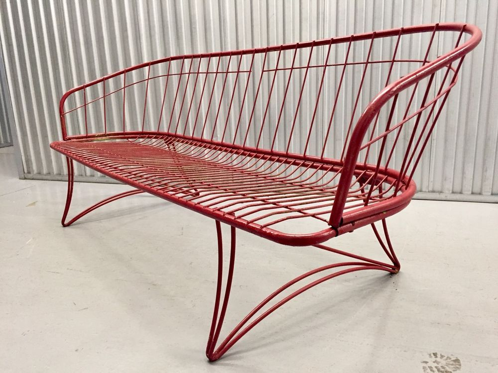 This A Fabulous Mid Century Modern Wrought Iron Sofa Design By