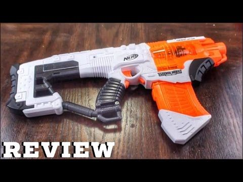 The Nerf Desolator - this blaster is a semi-automatic flywheel blaster,  just like the old Nerf Elite Stryfe blaster. They operate the same exact  way and off ...