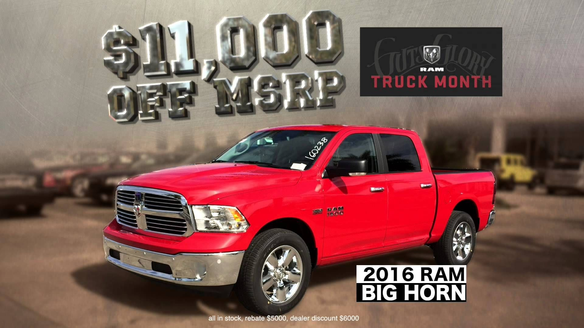 Save Big During Truck Month At Sterling Chrysler Dodge Jeep Ram