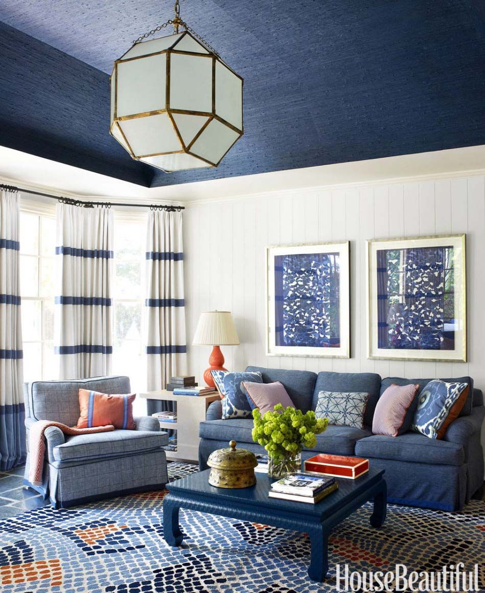 Cute Yellow And Blue Living Rooms Pictures Inspiration - Beautiful ...