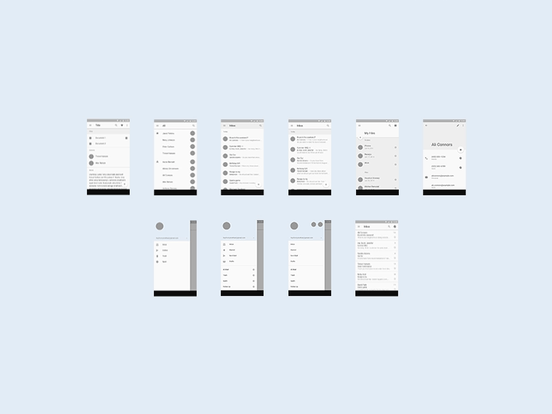 android l mobile ui template free sketch resource for download