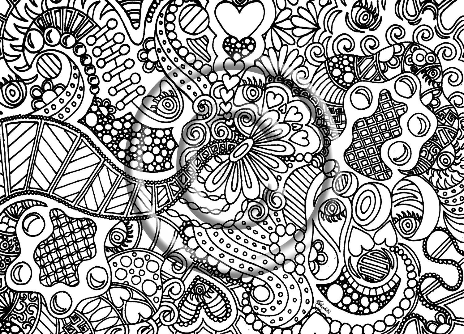Free Abstract Coloring Pages For Kids Archives With Abstract ...
