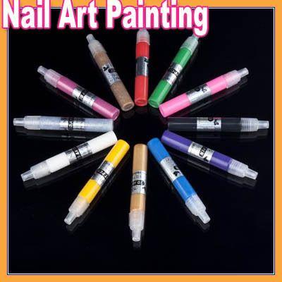 12 cores conjunto de criativo Nail Art pintura desenho DIY 3D Pen para senhora alishoppbrasil