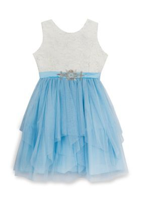 Rare Editions Blue Cinderella Party Dress Girls 7-16