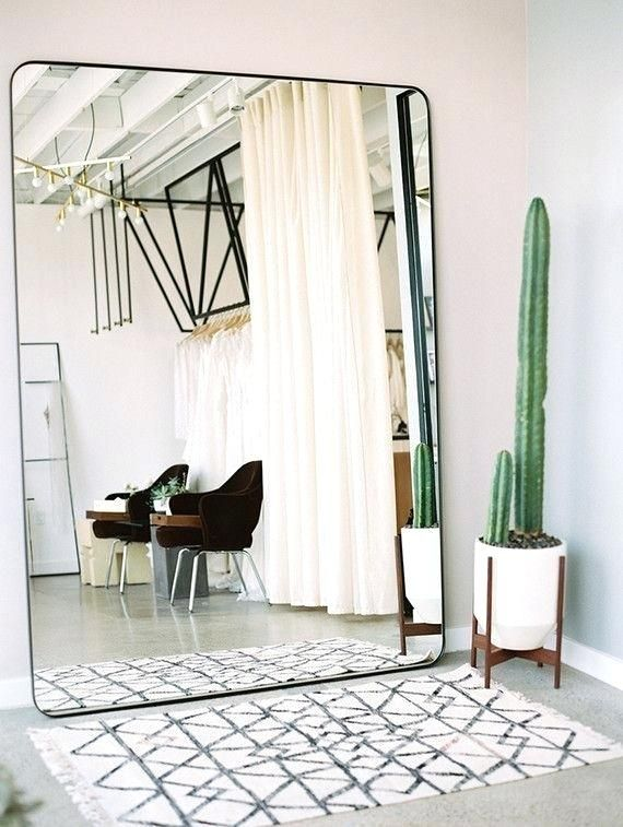 Cheap Living Room Mirrors Oversized Wall Mirror Cute Cactus And A Rug Large Mirror Living Large Living Room Mirrors Home House Interior Oversized Wall Mirrors