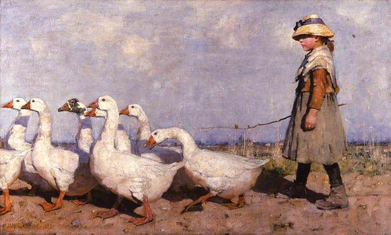 Guthrie, James, (1859-1930), To Pastures New, 1883, Oil