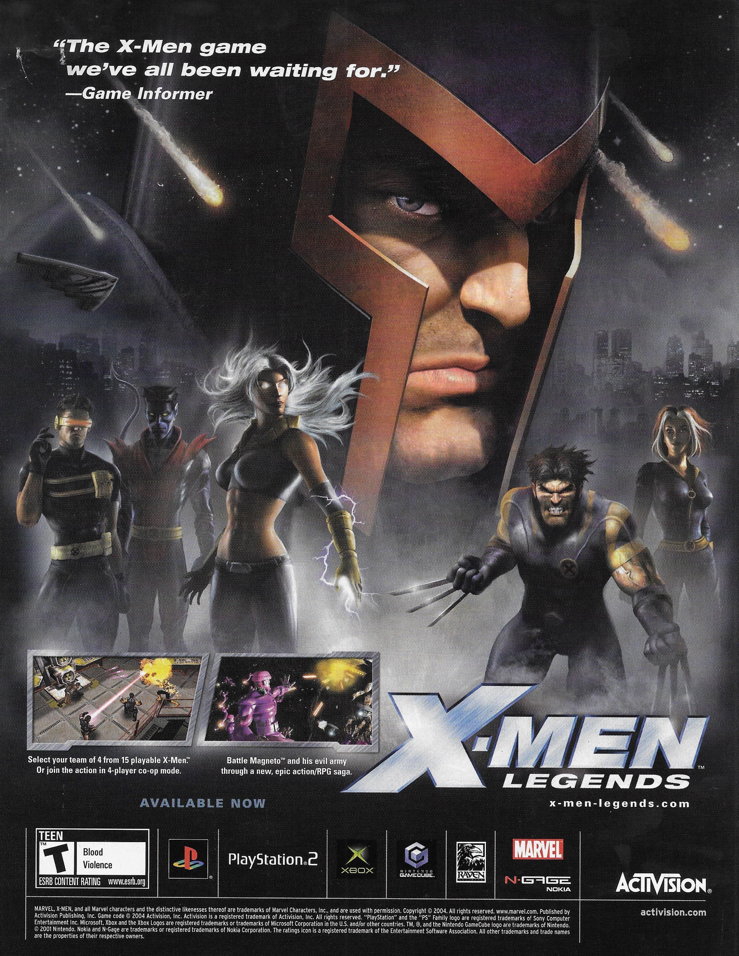 X Men Legends Retro Video Games Video Games Video Game