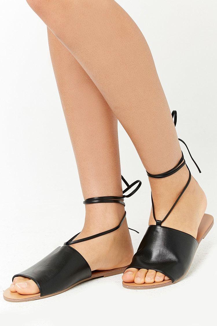 811a6de60e5f Product Name Faux Leather Ankle-Wrap Sandals