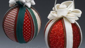 make a zipper fabric christmas ornament christmas ornaments