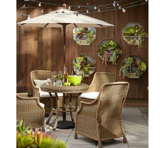 Garden String Lights Pinterest : Hanging globe string lights & a succulent garden on the wall Backyard Pinterest Globe ...