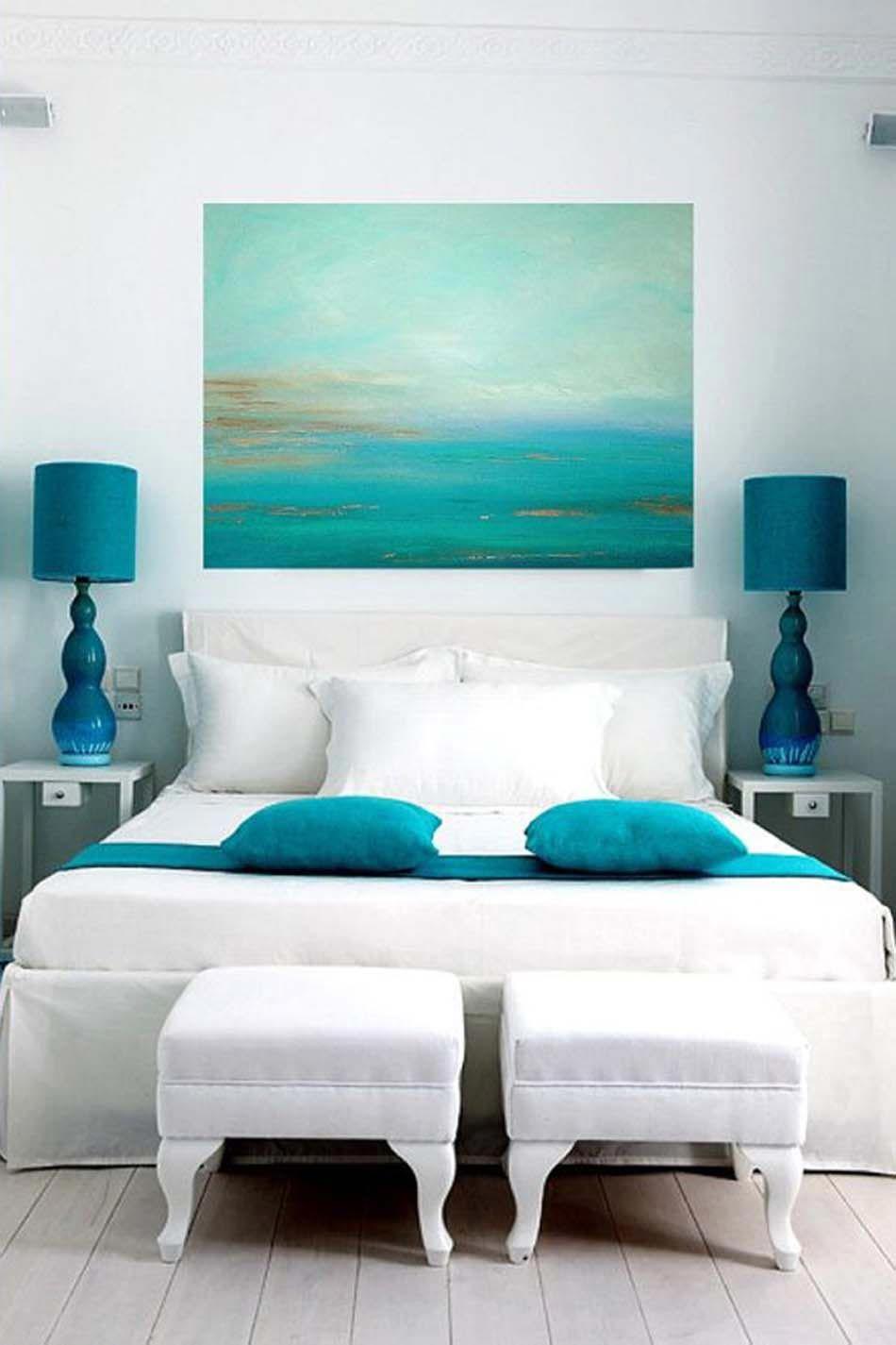 Marvelous House · Une Chambre En Blanc Et Turquoise ...
