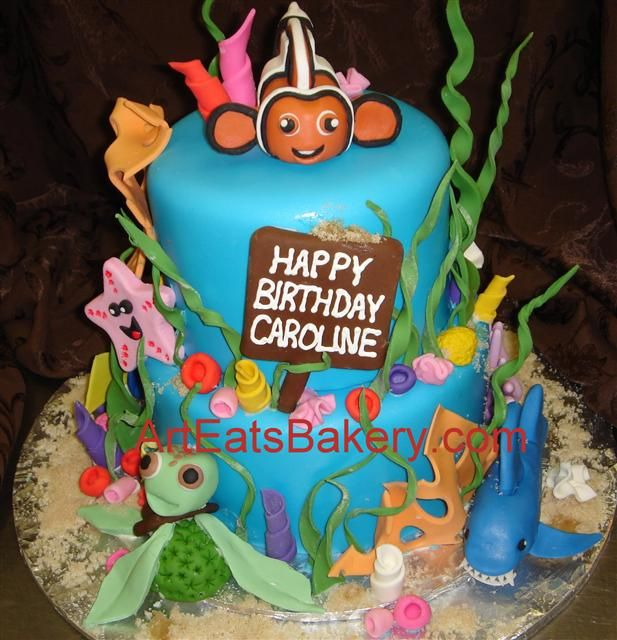 Southern Blue Celebrations Under the Sea Finding Nemo Cake