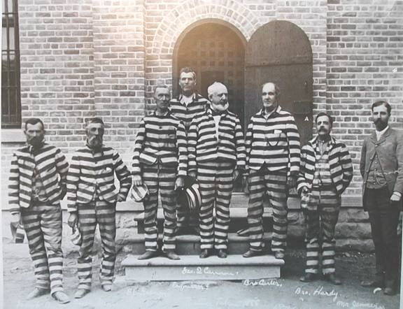 One of the more infamous photos of Mormon polygamists back in the day who were inmates at the Sugarhouse Pen.