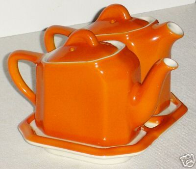 1930's Hall Tea-For-Two 3 pc. Teapot Set - I have this in blue!