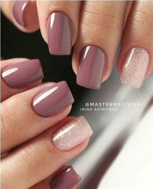 Natural nude nail art designs