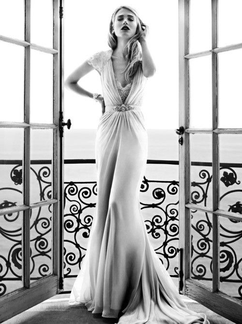 Jenny Packham 1920s vintage art deco flapper wedding dress | Soscifi ...