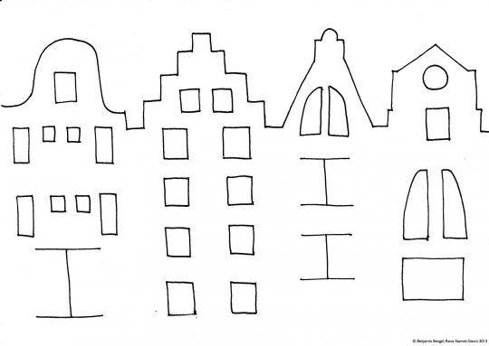 gevelhuisjes kleurplaat 25 beste ideen kinderoppas op
