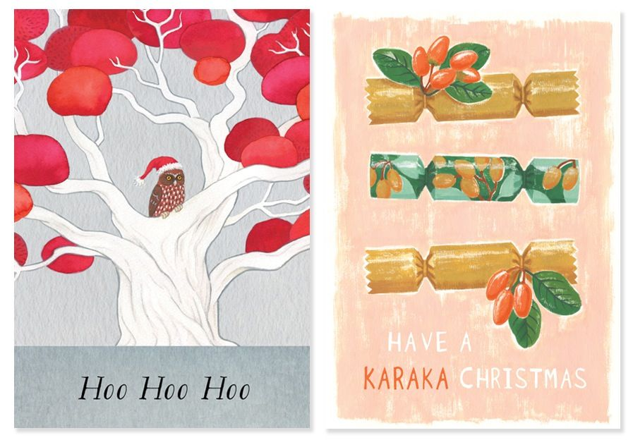 2015 Christmas cards by Tanya Wolfkamp for Live Wires NZ Ltd.