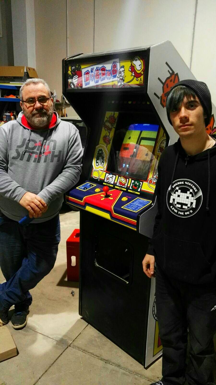 Restauración arcade dig dug original de Atari