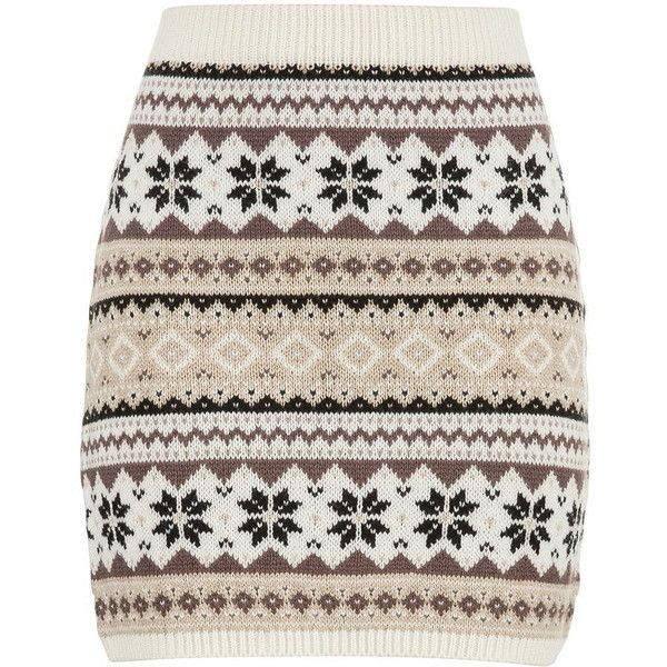 maurices Fair Isle Sweater Skirt ($6.75) ❤ liked on Polyvore ...