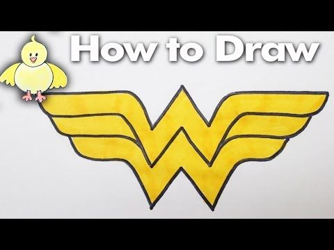 Drawing how to draw the wonder woman logo step by step for Draw my logo