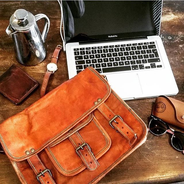 Slim Leather Briefcase 13