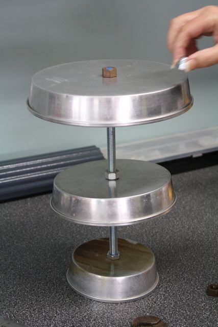 three tiered cake pan trays | tiered tray tutorial — The Pleated Poppy #tieredtraydecor