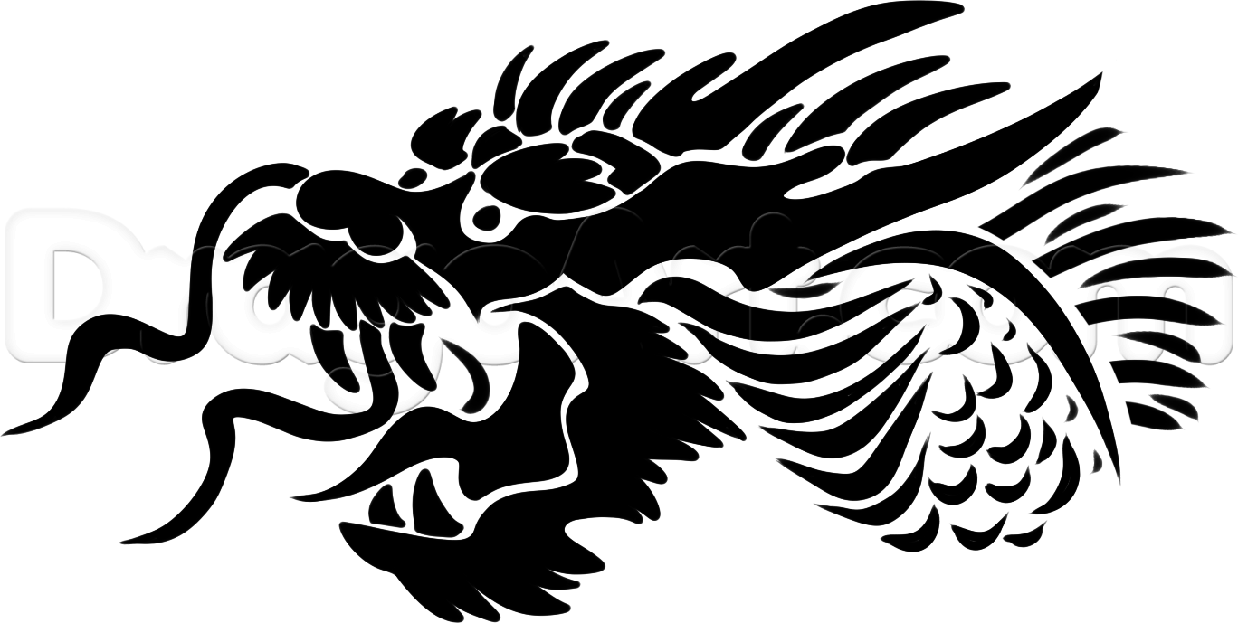 How To Draw A Tribal Chinese Dragon by Dawn Chinese