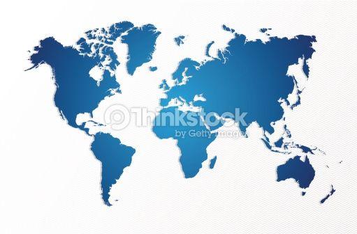 Vektorgrafik : Blue World map isolated shape EPS10 vector file.