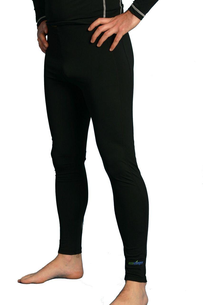 59fa2bfaf Men Sun Protective Clothing Swim Tights Full Legs UPF50+ Black (Chlorine  Resistant) - EcoStinger