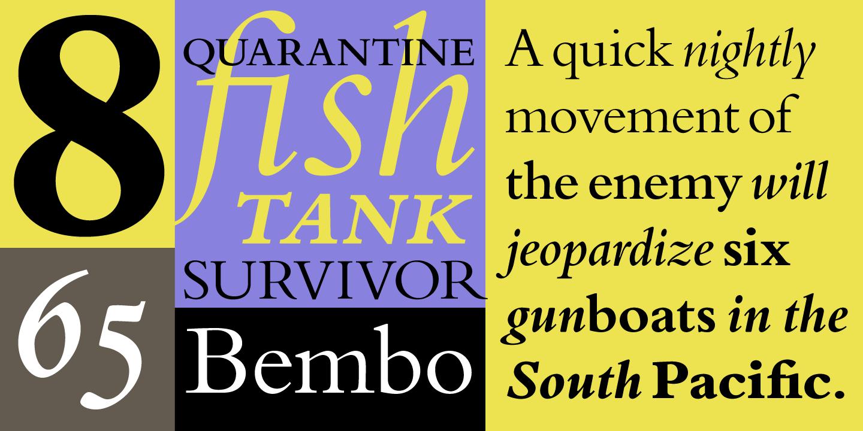 Bembo® - Desktop font « MyFonts