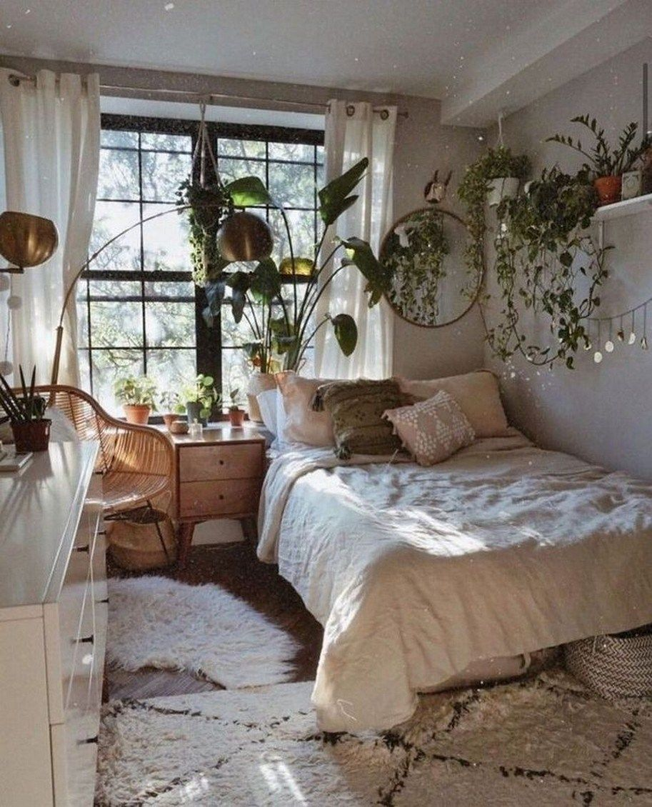 44 Trendy Design For Boho Bedroom Ideas In 2020 32 In 2020 Bohemian Bedroom Design Aesthetic Bedroom Cozy Room