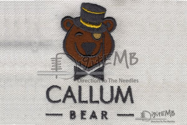 Callum Bear Embroidery Logo  We Create Digitized Logo in Just 2-4 Hour Turnaround Time. Whether you Need Employee Shirts to Baseball Caps Embroidery Digitizing is your One Stop Shop for anything Embroidered. For Orders Sign Up Now: http://www.digitemb.com/New-Register.php  #JacketBackDesign  #DigitizedLogo #pique #Jacketback #DigitEMb  #CompanyLogo #Creativedesign #LogoDesigns #LeftChest #CustomEmbroidery #PoloShirts #Caps #Embroidery  #Artwork #Apparel #bear