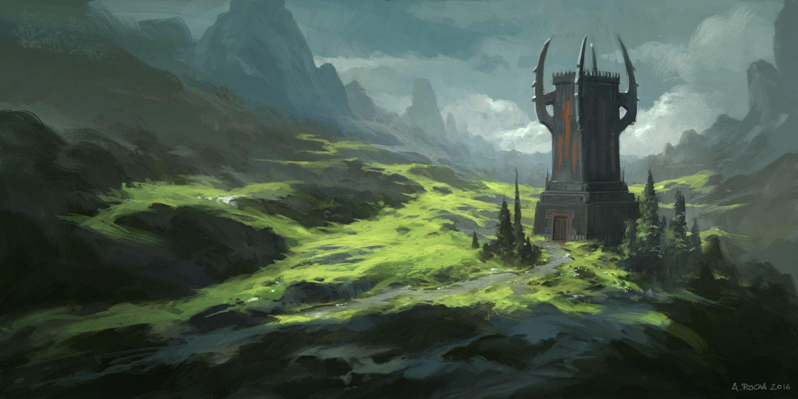 Orc Keep, Andreas Rocha on ArtStation at https://www.artstation.com/artwork/OOwL6?utm_campaign=digest&utm_medium=email&utm_source=email_digest_mailer