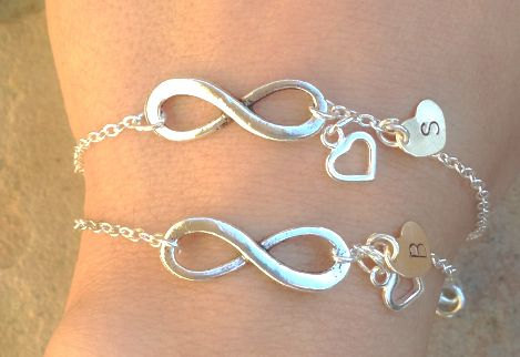 Personalized Bracelets Custom Infinity Bracelet Mom And Daughter For The Bride Initial Mother Of