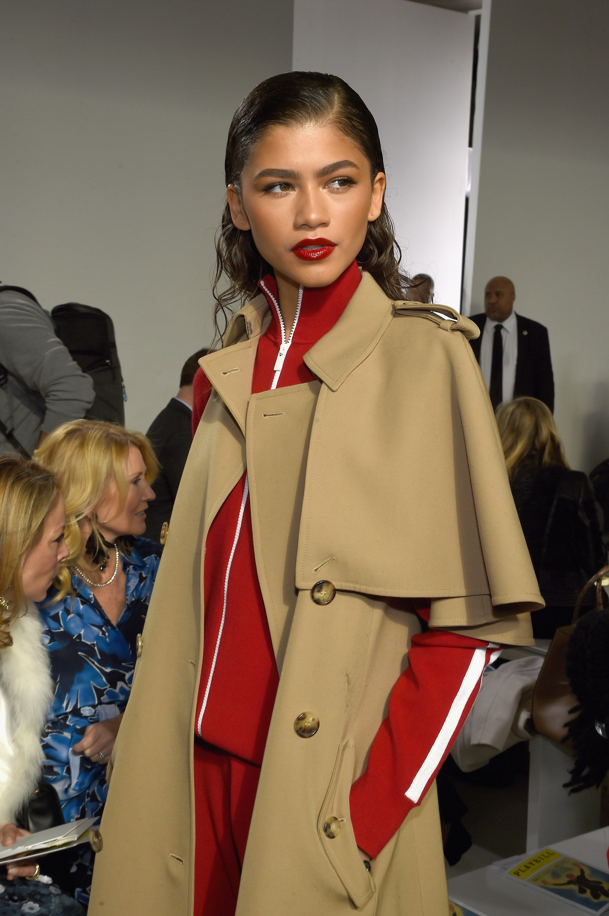 1698b823b850 Zendaya Puts a Bold Spin on Classic Beauty at Michael Kors