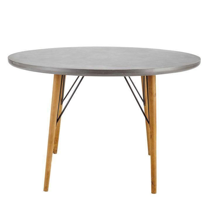 Runder Esstisch für 4 Personen aus Holz D120 Esstisch