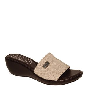 Look what I found on #zulily! Italian Comfort Beige Wedge Slide by Italian Comfort #zulilyfinds