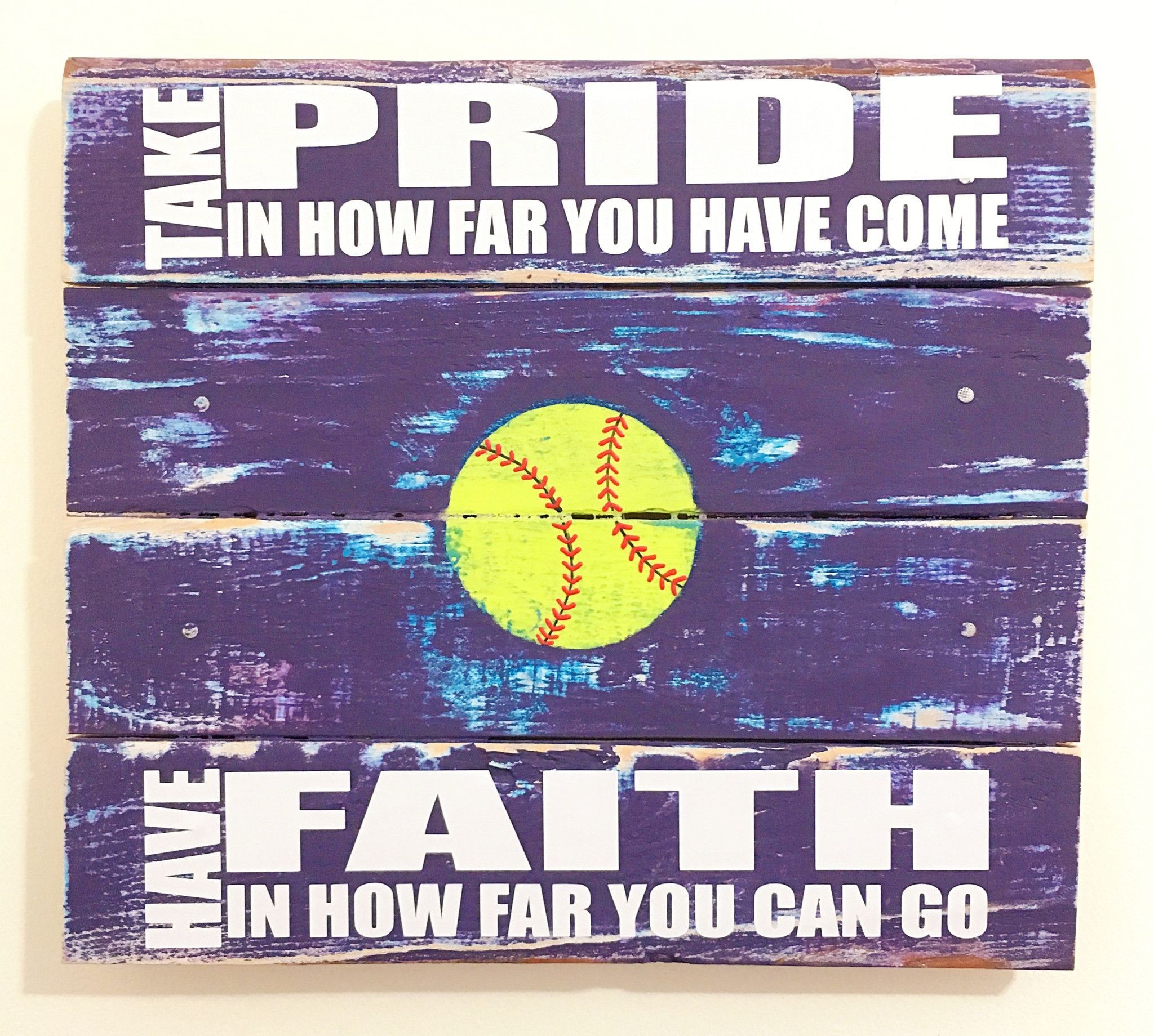 Softball wall art girls room decor softball pinterest