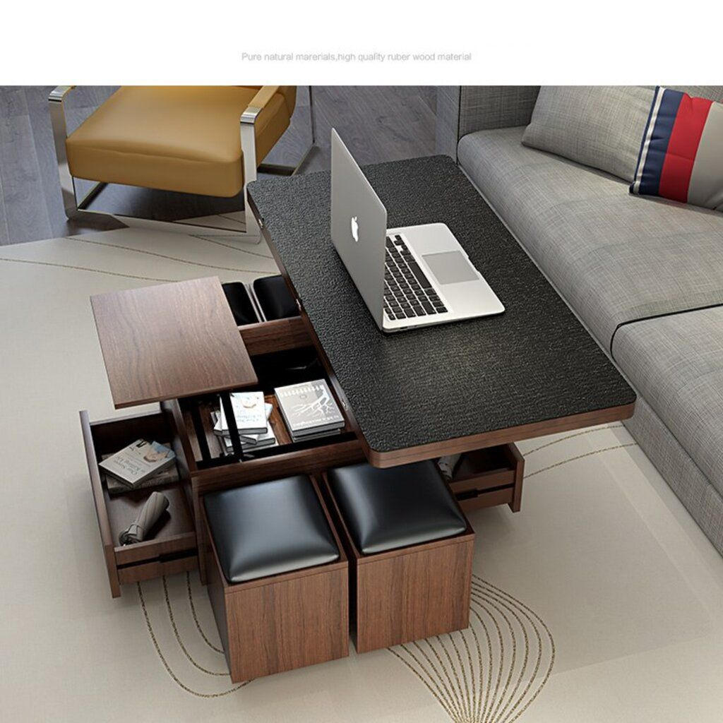 2020 New Multifunction Foldable Coffee Table Liftable And Lowerable Minimalist Rectangle Mesas Cen Foldable Coffee Table Coffee Table Coffee Table With Seating [ jpg ]