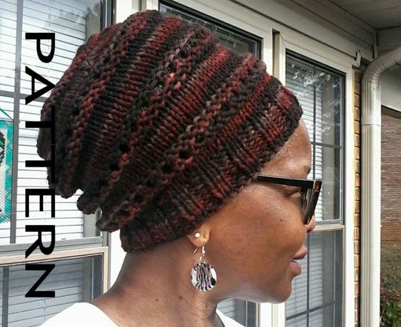 Instant Download Knitting Pattern - Slouchy Hat - Rasta Slouchy Hat ...