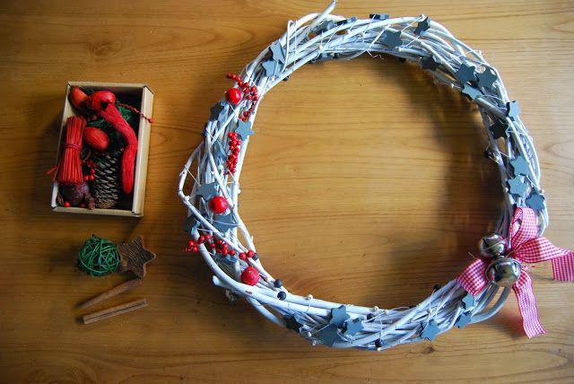 DIY Corona de Navidad en Blanco. Dreaming of a White christmas wreath.