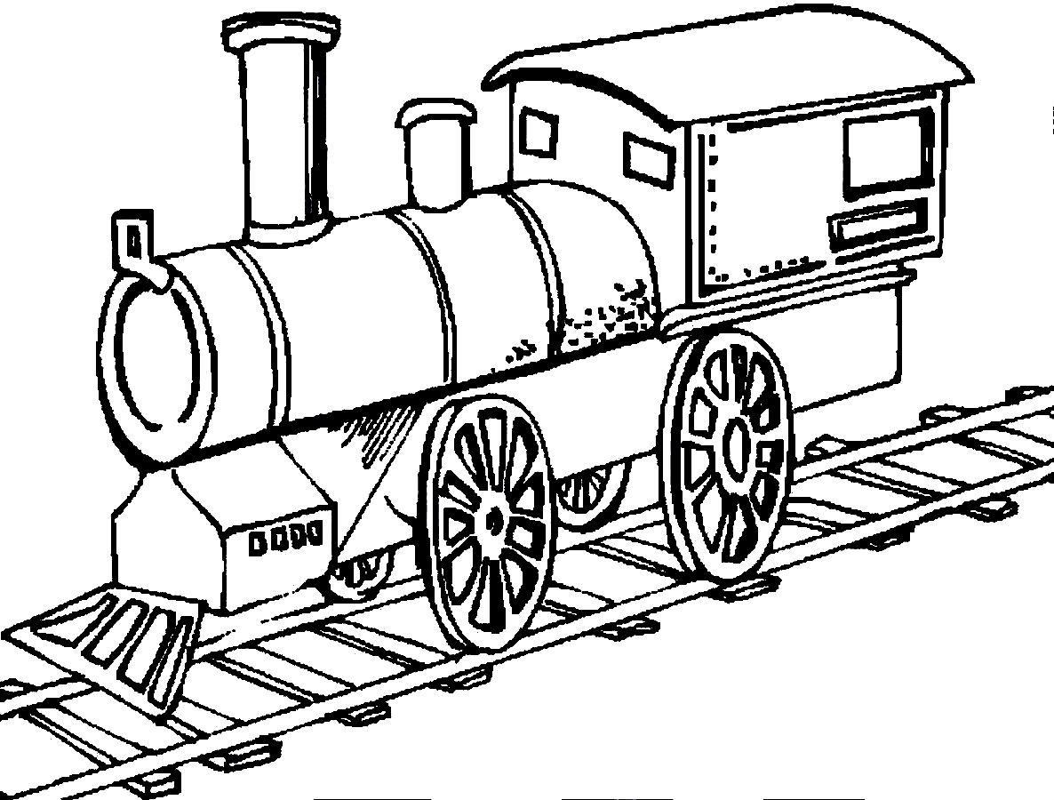 Trains Are Running On The Track Truck Coloring Pages Train