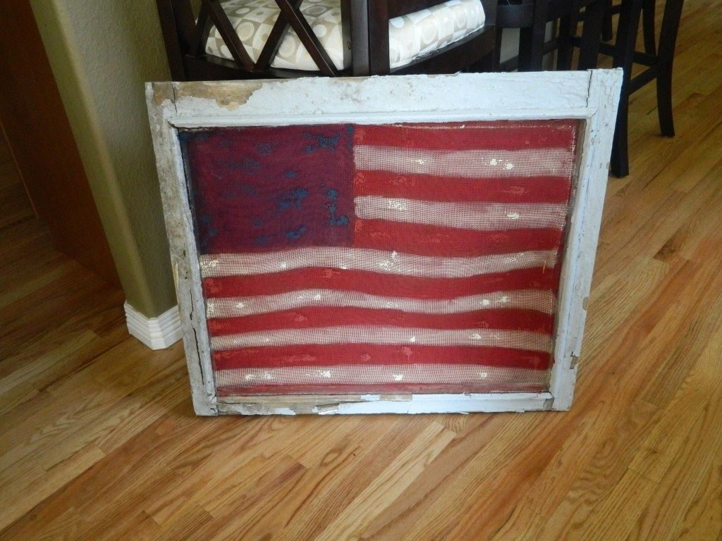 painted an old screen window