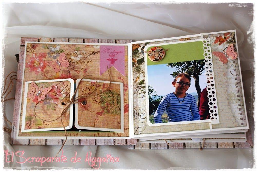 """El Scraparate de Alagaina: Album """"Hadas en mi jardín"""""""