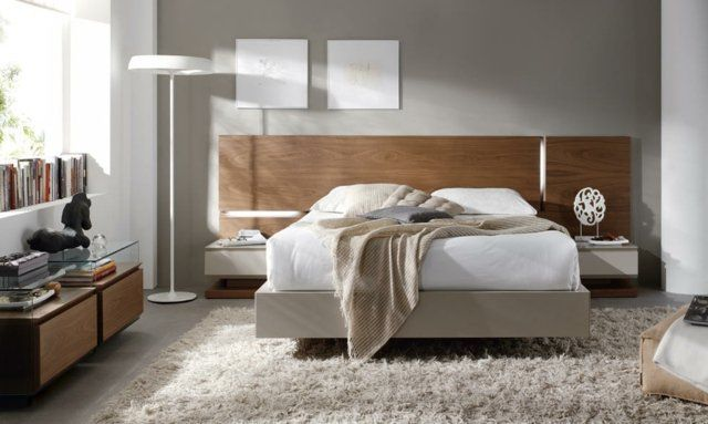 id es d co chambre coucher couleurs naturelles murs gris. Black Bedroom Furniture Sets. Home Design Ideas